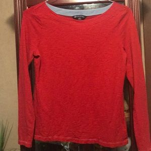 Brooks Brothers boat neck long sleeve t shirt
